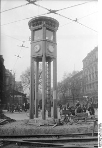 Europe's first ever traffic light was constructed at the busy Potsdamer Platz intersection in Berlin in October 1924. The street around it had not been paved, and a police officer had to manually operate the lights from the tower!