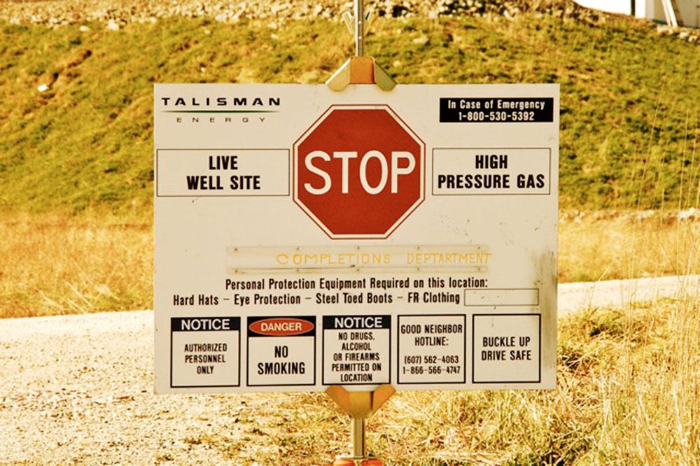 Fracking site in Warren, PA