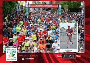 Rob running his first ever marathon in Ottawa, May 2015