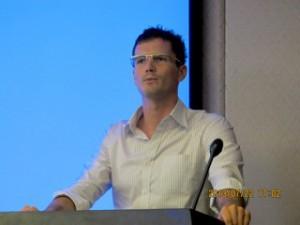 Rob delivering a recent business presentation.