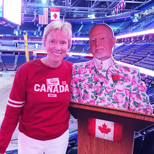Susie Hoeller Canada Day celebration at Amalie Arena in Tampa
