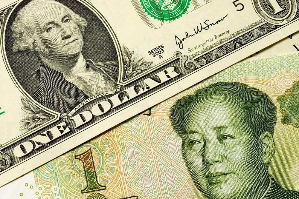US dollar and Chinese yuan
