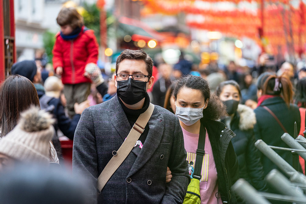 People in China wearing facenmasks